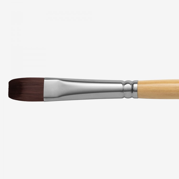 HANDOVER : RED/BROWN TEIJIN SYNTHETIC BRISTLE HAIR BRUSH : BRIGHT # 8