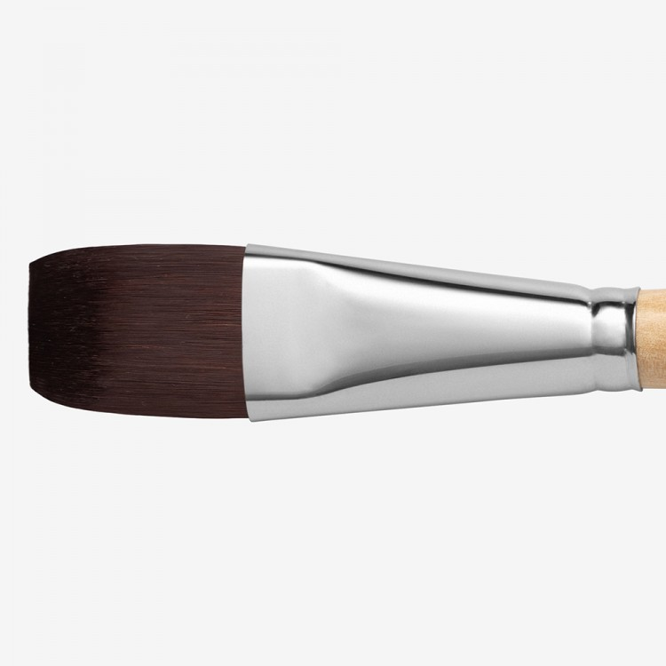Handover : Red/Brown Teijin Synthetic Bristle Hair Brush : Bright # 14