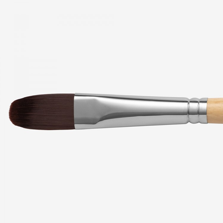 Handover : Red/Brown Teijin Synthetic Bristle Hair Brush : Filbert # 10