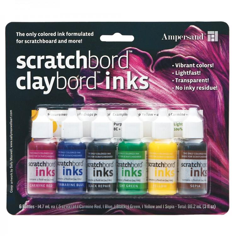 Ampersand : Scratchbord Ink Set : 6 Colours