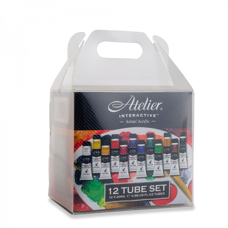 Atelier : Interactive : Artists' Acrylic Paint : 20ml : Set of 12