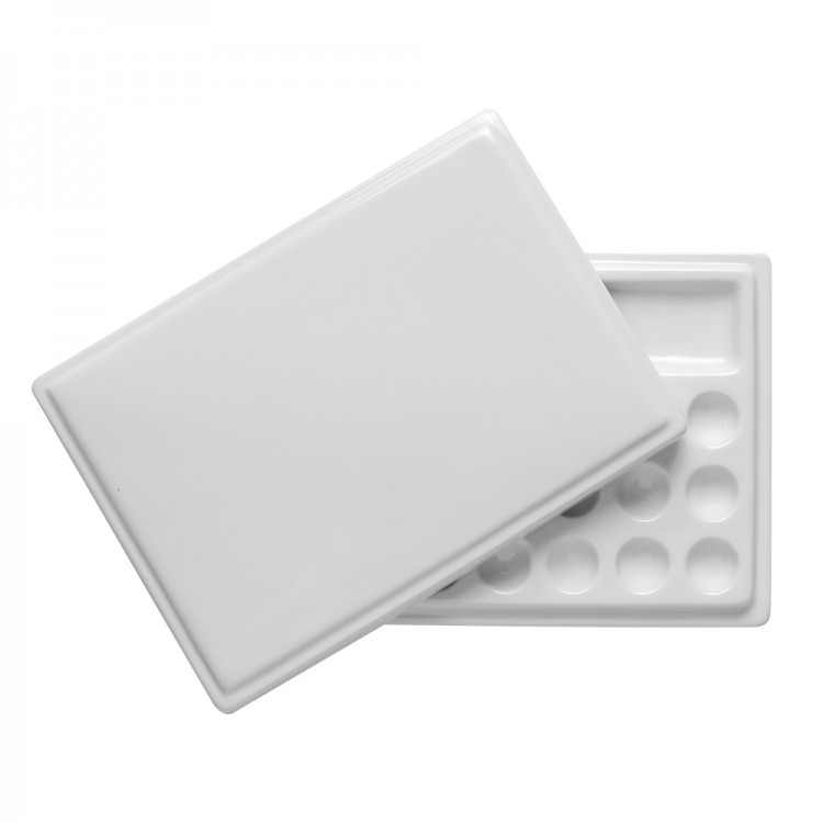 Jackson's : Ceramic Palette : No. 28 5x7 in. and lid