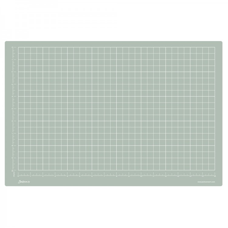 Jackson's : A3 Grey Cutting Mat : Double Sided CM & Inch Grid : 30x45cm : 11.8x17.7in