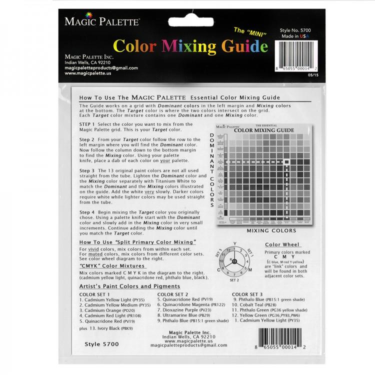 Magic Palette Mini Essential Color Mixing Guide Jacksons Art