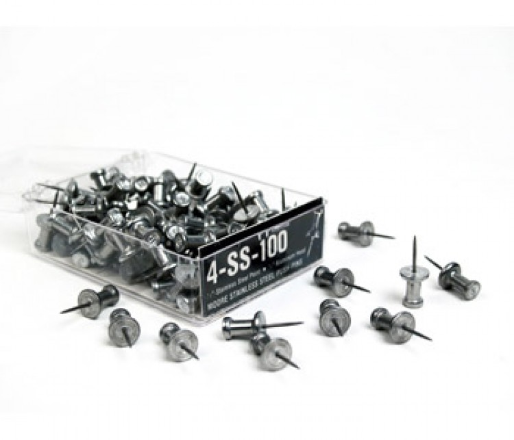 Flexitable : Stainless Steel Push Pin : Box of 100