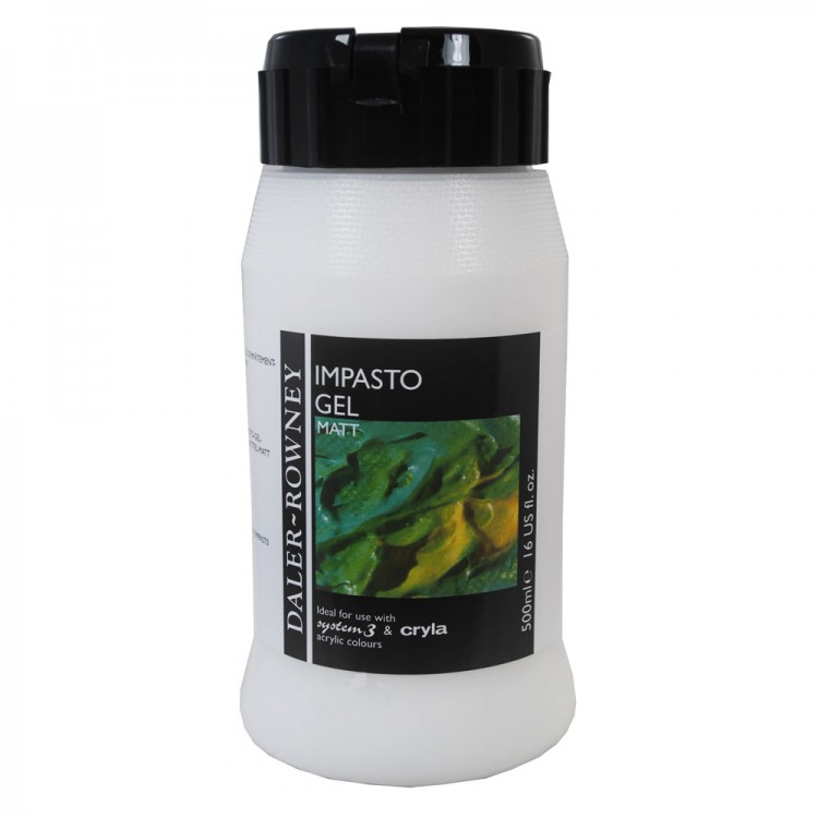 Daler Rowney : Acrylic Medium : Impasto Gel Medium : 500ml : Matt