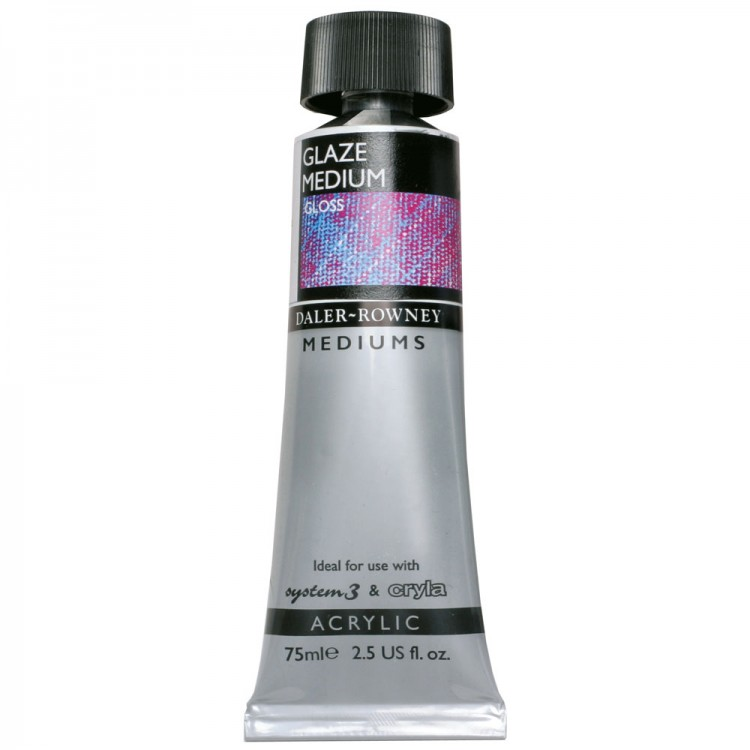 Daler Rowney : Acrylic Medium : Glaze Medium : 75ml : Gloss