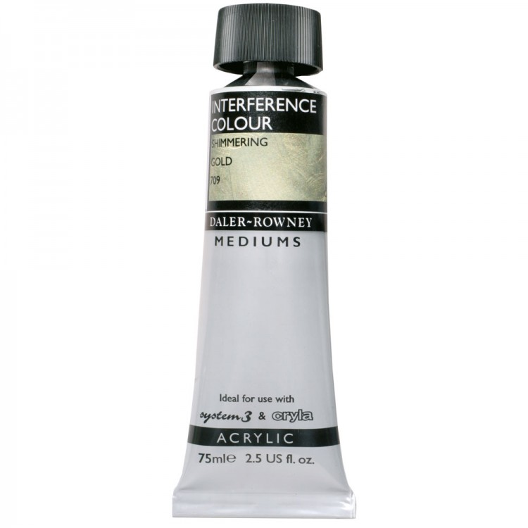 Daler Rowney : Acrylic Medium : : Interference Medium : 75ml : Gold