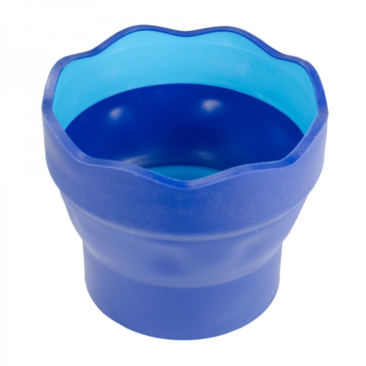 Faber Castell : Click & Go Foldable Water Pot & Brush Holder : Blue