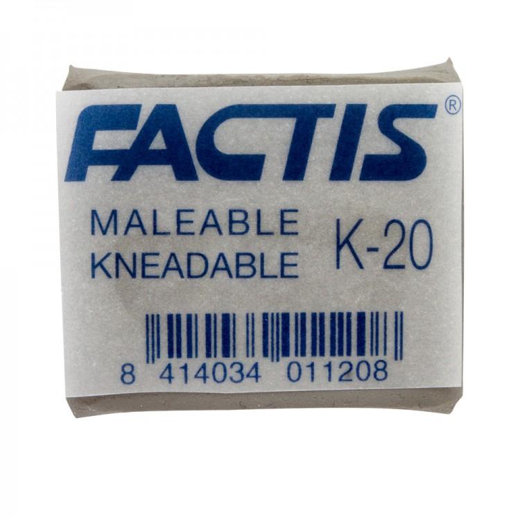 Factis : Kneadable Eraser : Putty Rubber : 37x29x10mm : Grey