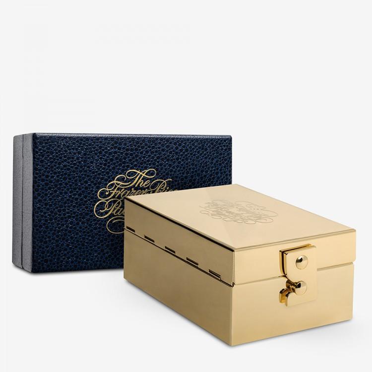 Frazer Price : Brass Watercolour Box : With 12 Jackson's Artist Watercolour Paint Half Pans : Plus 6 Empty Pans