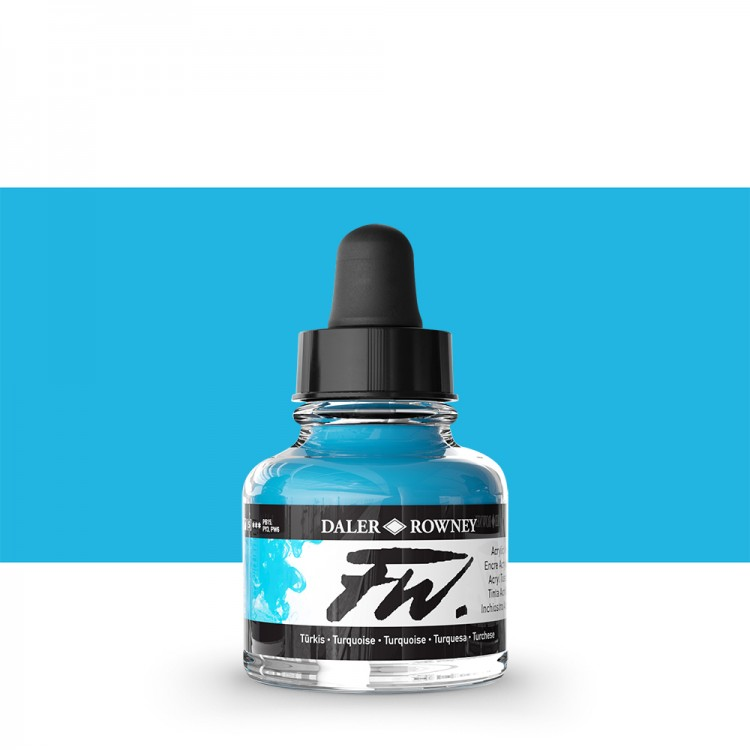 Daler Rowney : FW Artists' Ink : 29.5ml : Turquoise