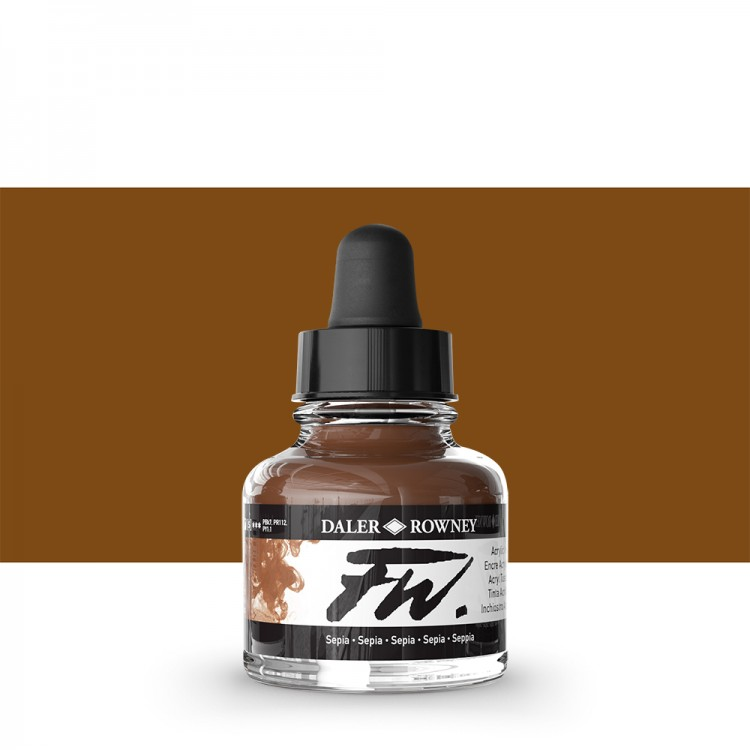 Daler Rowney : FW Artists' Ink : 29.5ml : Sepia
