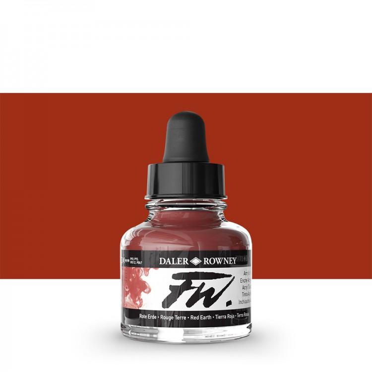 Daler Rowney : FW Artists' Ink : 29.5ml : Red Earth