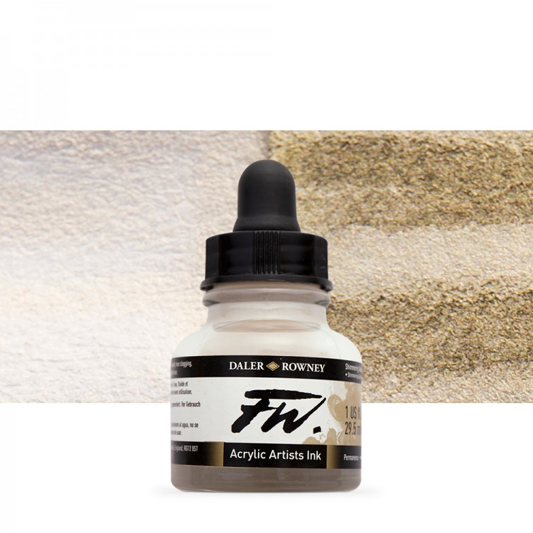 Daler Rowney : FW Artists' Ink : 29.5ml : Shimmering Gold (Interference)