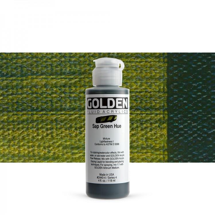 Golden : Fluid : Acrylic Paint : 119ml (4oz) : Sap Green Hue