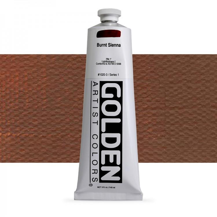 Golden : Heavy Body Acrylic Paint : 150ml : Burnt Sienna