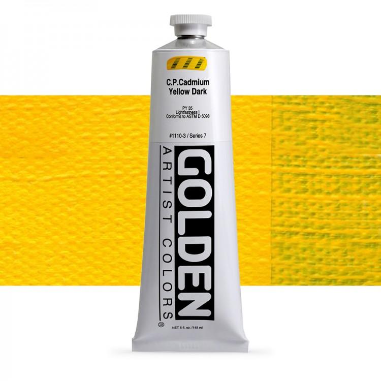 Golden : Heavy Body Acrylic Paint : 150ml : Pure Cadmium Yellow Dark