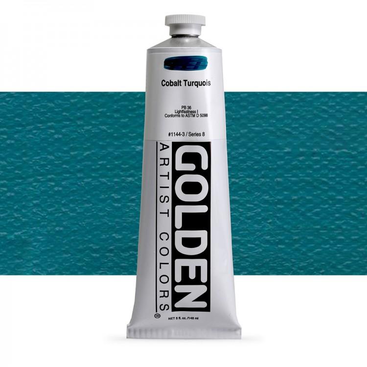 Golden : Heavy Body Acrylic Paint : 150ml : Cobalt Turquoise