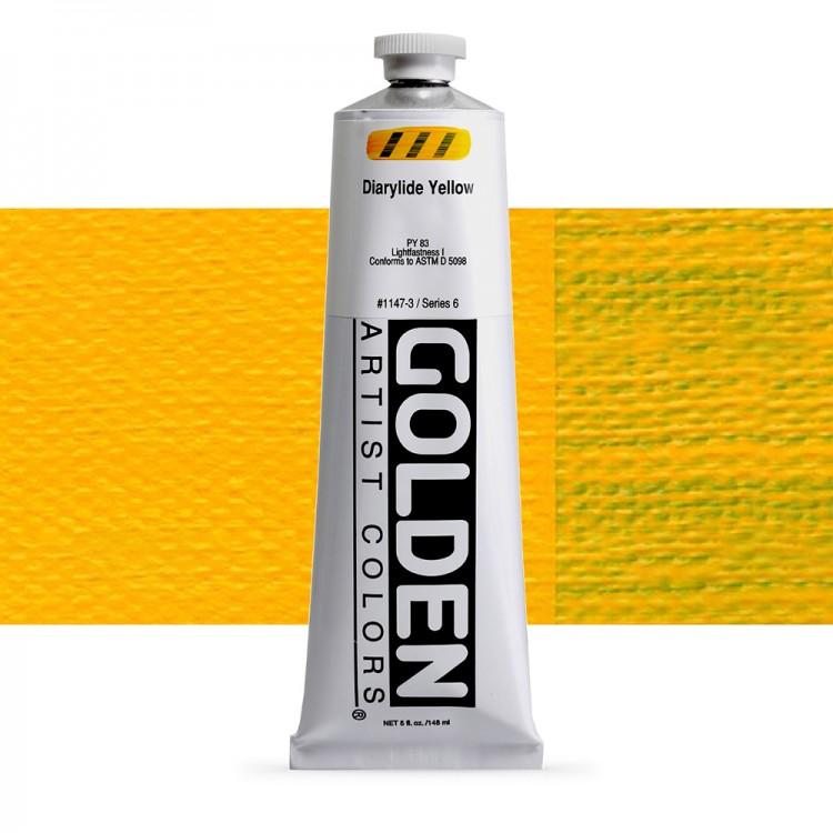 Golden : Heavy Body Acrylic Paint : 150ml : Diarylide Yellow