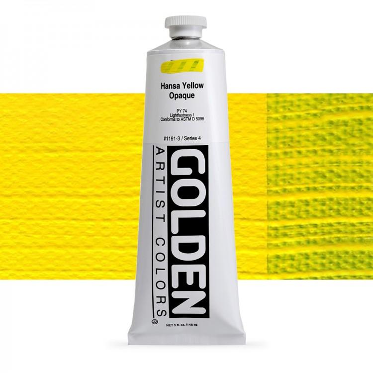 Golden : Heavy Body Acrylic Paint : 150ml : Hansa Yellow Opaque