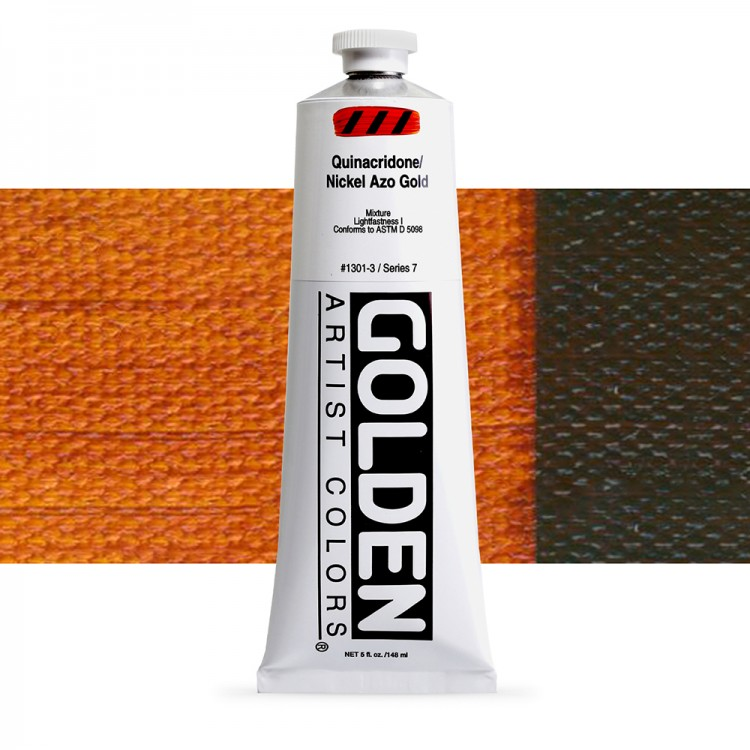 Golden : Heavy Body Acrylic Paint : 150ml : Quinacridone Nickel Azo Gold