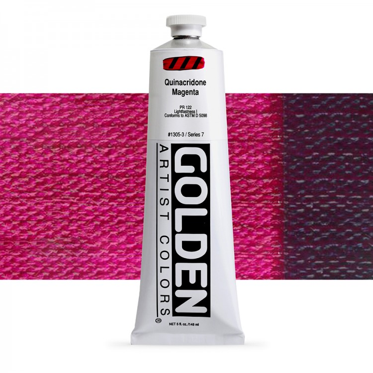 Golden : Heavy Body Acrylic Paint : 150ml : Quinacridone Magenta