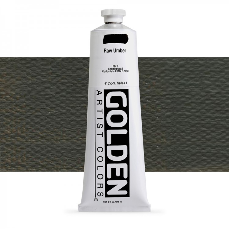 Golden : Heavy Body Acrylic Paint : 150ml : Raw Umber