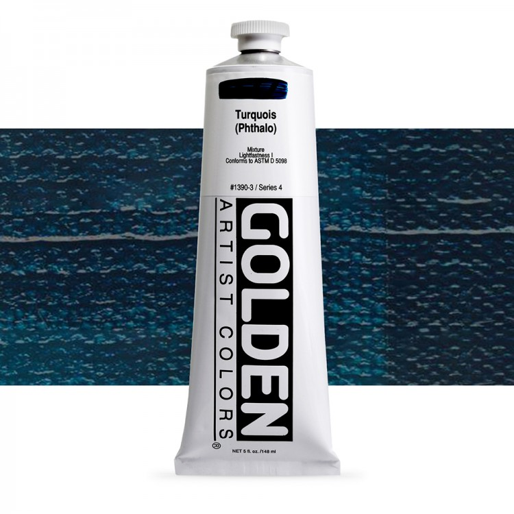 Golden : Heavy Body Acrylic Paint : 150ml : Turquoise (Phthalo)