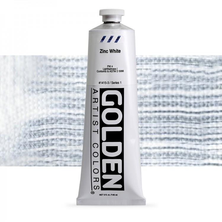 Golden : Heavy Body Acrylic Paint : 150ml : Zinc White