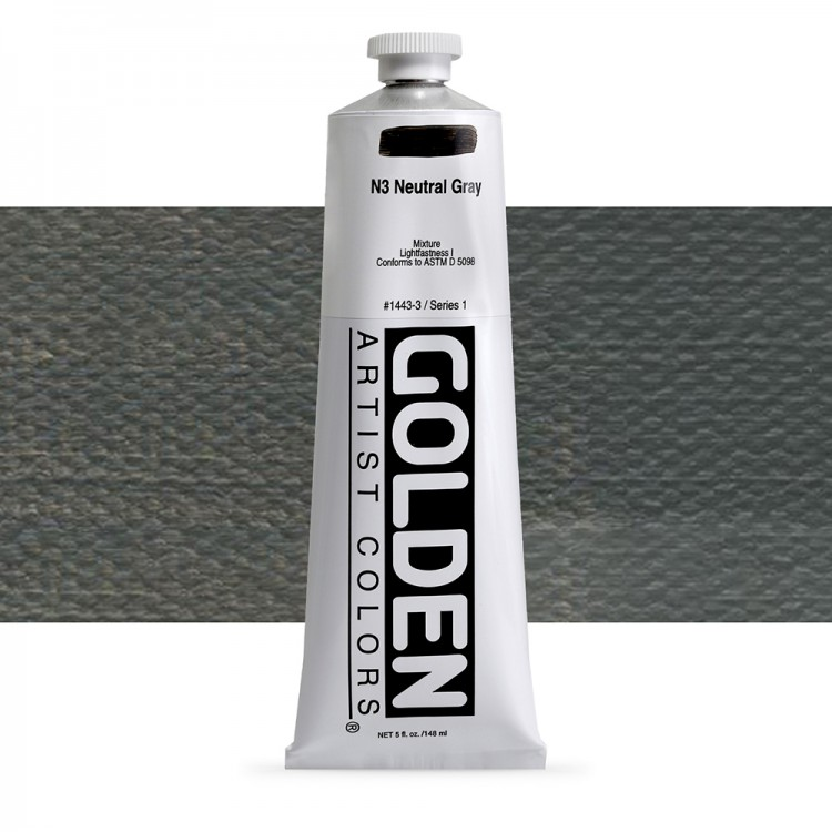 Golden : Heavy Body Acrylic Paint : 150ml : Neutral Grey No.3
