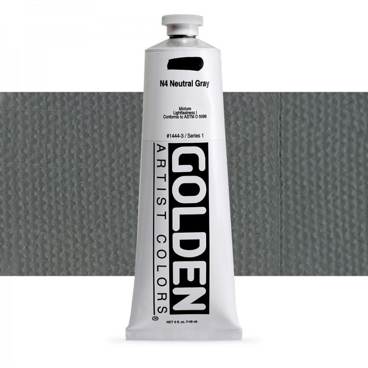 Golden : Heavy Body Acrylic Paint : 150ml : Neutral Grey No.4