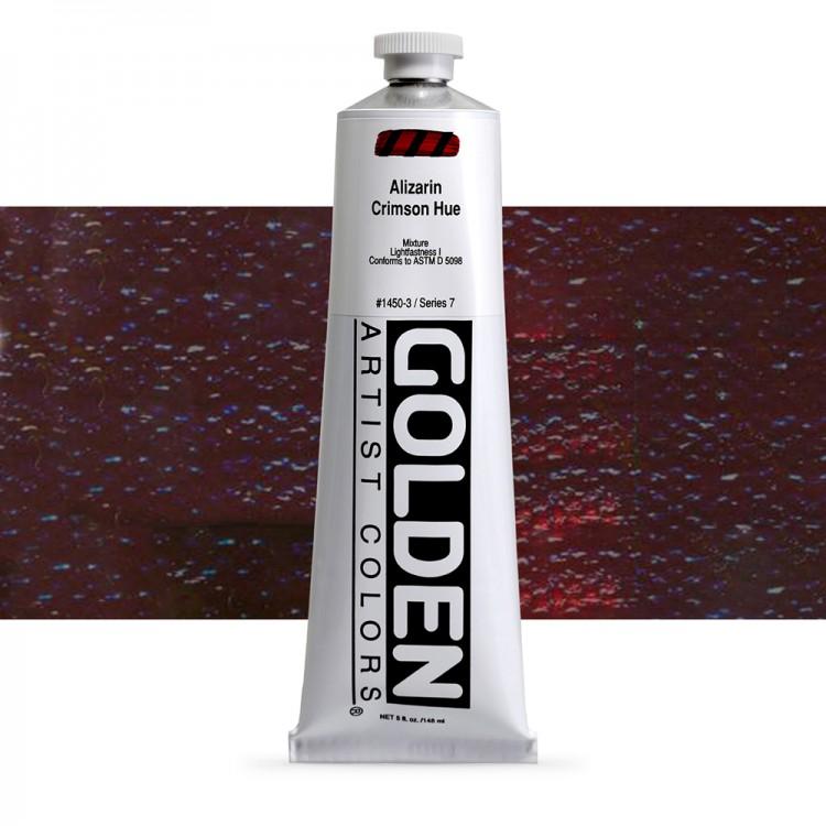 Golden : Heavy Body Acrylic Paint : 150ml : Alizarin Crimson Hue