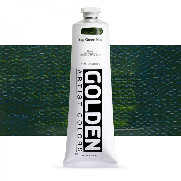Golden : Heavy Body Acrylic Paint : 150ml : Sap Green Hue