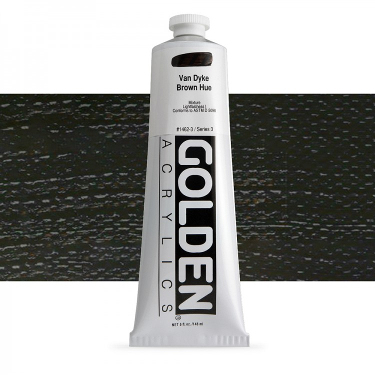 Golden : Heavy Body Acrylic Paint : 150ml : Vandyke Brown Hue