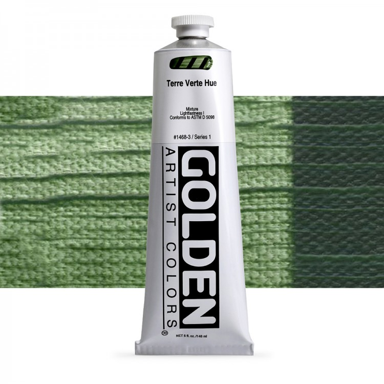 Golden : Heavy Body Acrylic Paint : 150ml : Terre Verte Hue