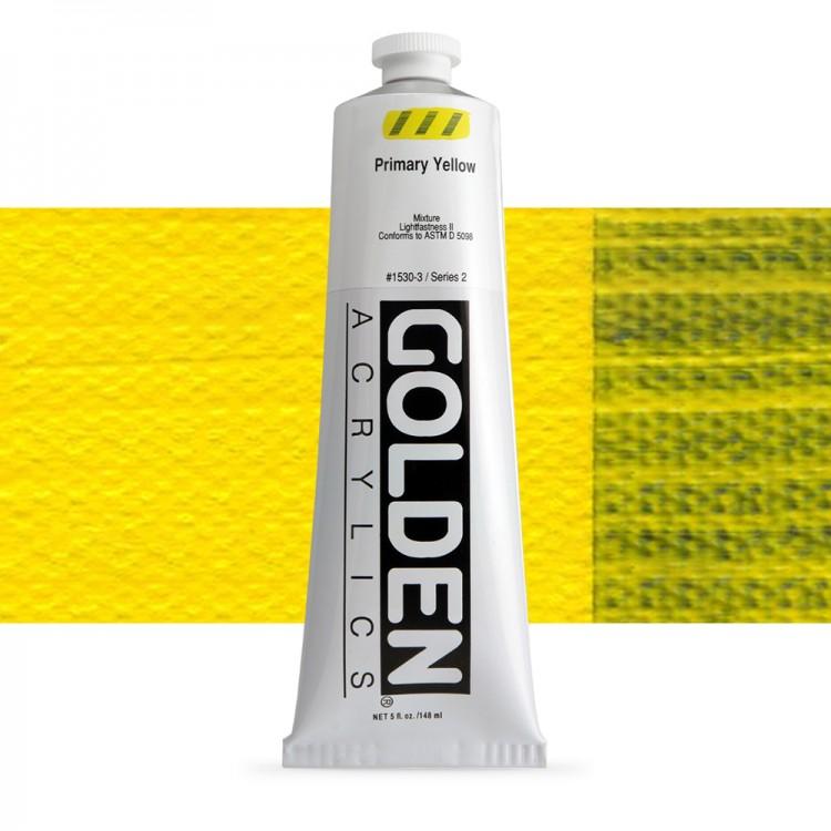 Golden : Heavy Body Acrylic Paint : 150ml : Primary Yellow
