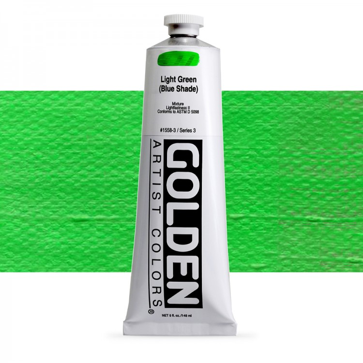 Golden : Heavy Body Acrylic Paint : 150ml : Light Green Blue Shade