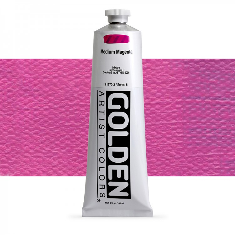 Golden : Heavy Body Acrylic Paint : 150ml : Medium Magenta
