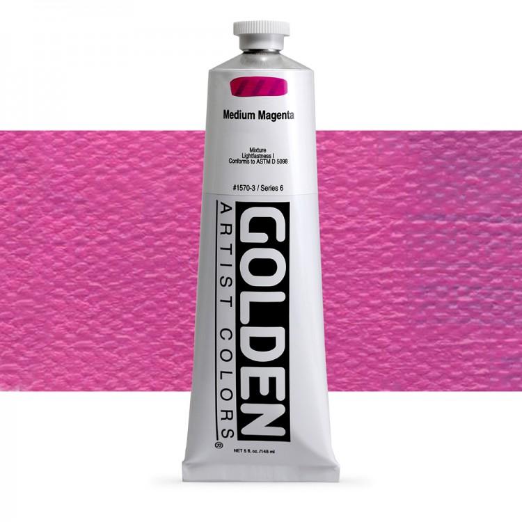 Golden : Heavy Body Acrylic Paint : 150ml : Medium Magenta