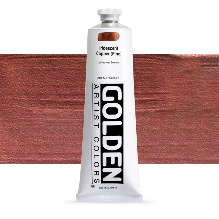 Golden : Heavy Body Acrylic Paint : 150ml : Copper Fine Iridescent
