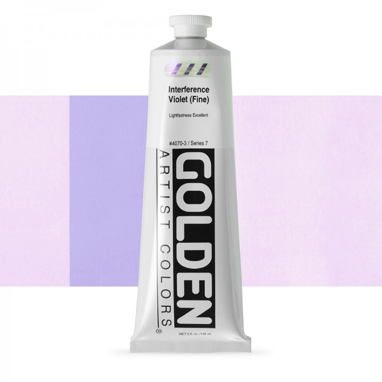 Golden : Heavy Body Acrylic Paint : 150ml : Violet Fine Interference