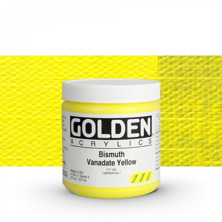 Golden : Heavy Body Acrylic Paint : 236ml Bismuth Vanadate Yellow Ix New