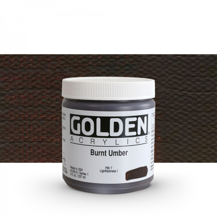 Golden : Heavy Body Acrylic Paint : 236ml : Burnt Umber
