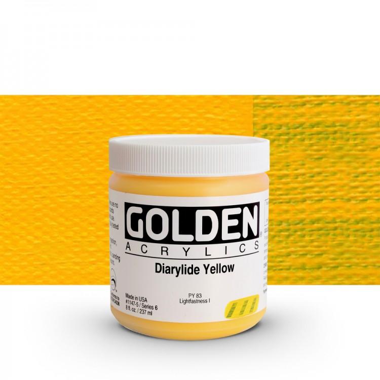 Golden : Heavy Body Acrylic Paint : 236ml : Diarylide Yellow