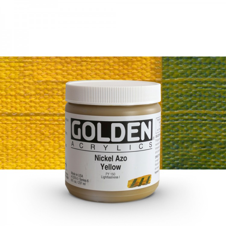 Golden : Heavy Body Acrylic Paint : 236ml : Nickel Azo Yellow