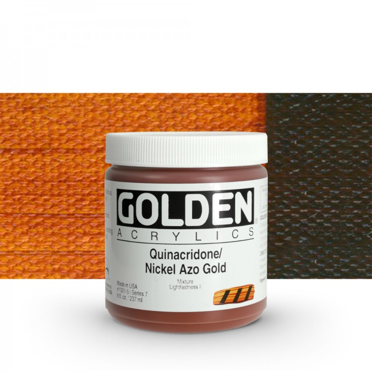 Golden : Heavy Body Acrylic Paint : 236ml : Quinacridone Nickel Azo Gold