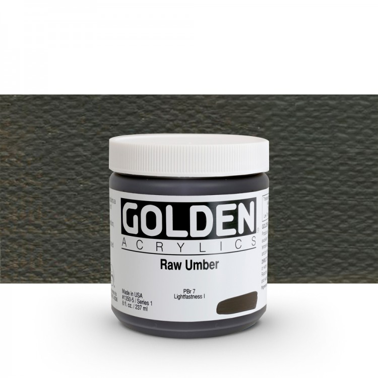 Golden : Heavy Body Acrylic Paint : 236ml : Raw Umber