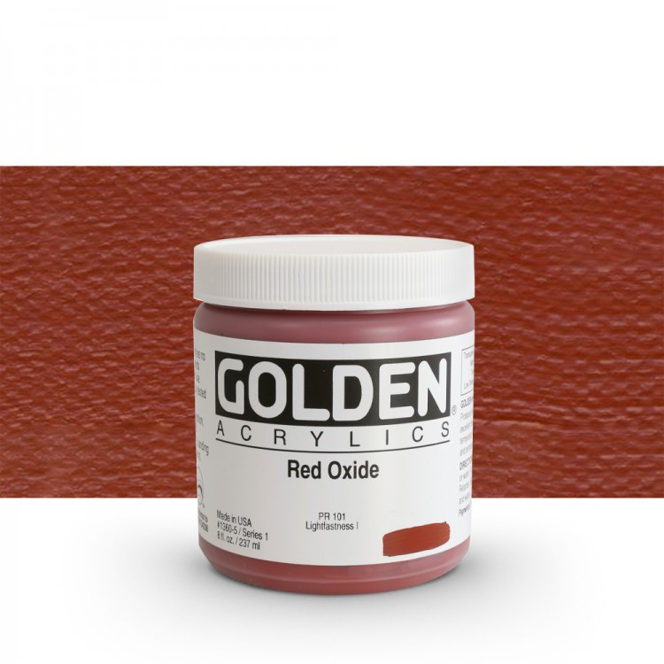 Golden : Heavy Body Acrylic Paint : 236ml : Red Oxide
