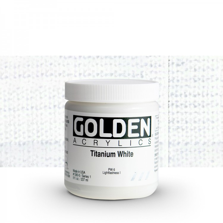 Golden : Heavy Body Acrylic Paint : 236ml : Titanium White